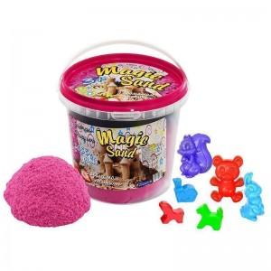 Magic sand - розового цвета с ароматом клубники.Ведро 1 кг (372-11)