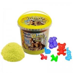 Magic sand - желтого цвета с ароматом банана.Ведро 1 кг (372-12)