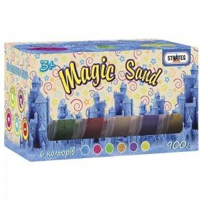 Magic sand - 6 цветов по 150 г, в коробке 19,5см - 10,5см - 10см (51000)