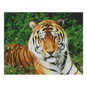 Алмазная мозаика Strateg «Взгляд тигра», 40х50 см