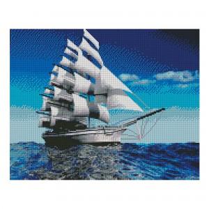 Алмазная мозаика Strateg «Белоснежные паруса», 40х50 см
