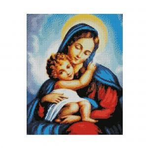 Алмазная мозаика Strateg «Божья матерь», 40х50 см