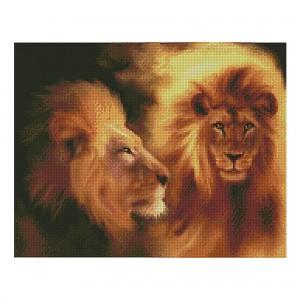 Алмазная мозаика Strateg «Величественный лев», 40х50 см