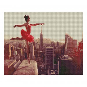 Алмазная мозаика Strateg «Балет на краю небоскреба», 40х50 см