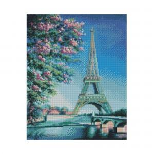 Алмазная мозаика Strateg «Весна в Париже», 40х50 см