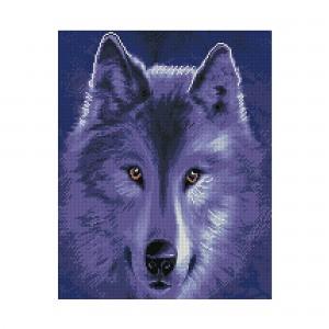 Алмазная мозаика Strateg «Волчица в лунном сиянии», 40х50 см