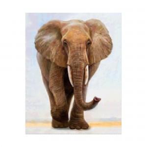 Алмазная мозаика Strateg «Величественный слон», 40х50 см