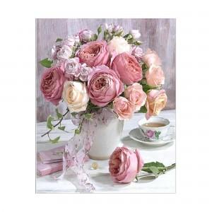 Алмазная мозаика Strateg «Букет нежнейших роз», 40х50 см
