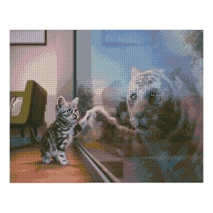 Алмазная мозаика Strateg «Будущий тигр», 40х50 см