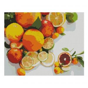 Алмазная мозаика Strateg «Букет цитрусов», 40х50 см